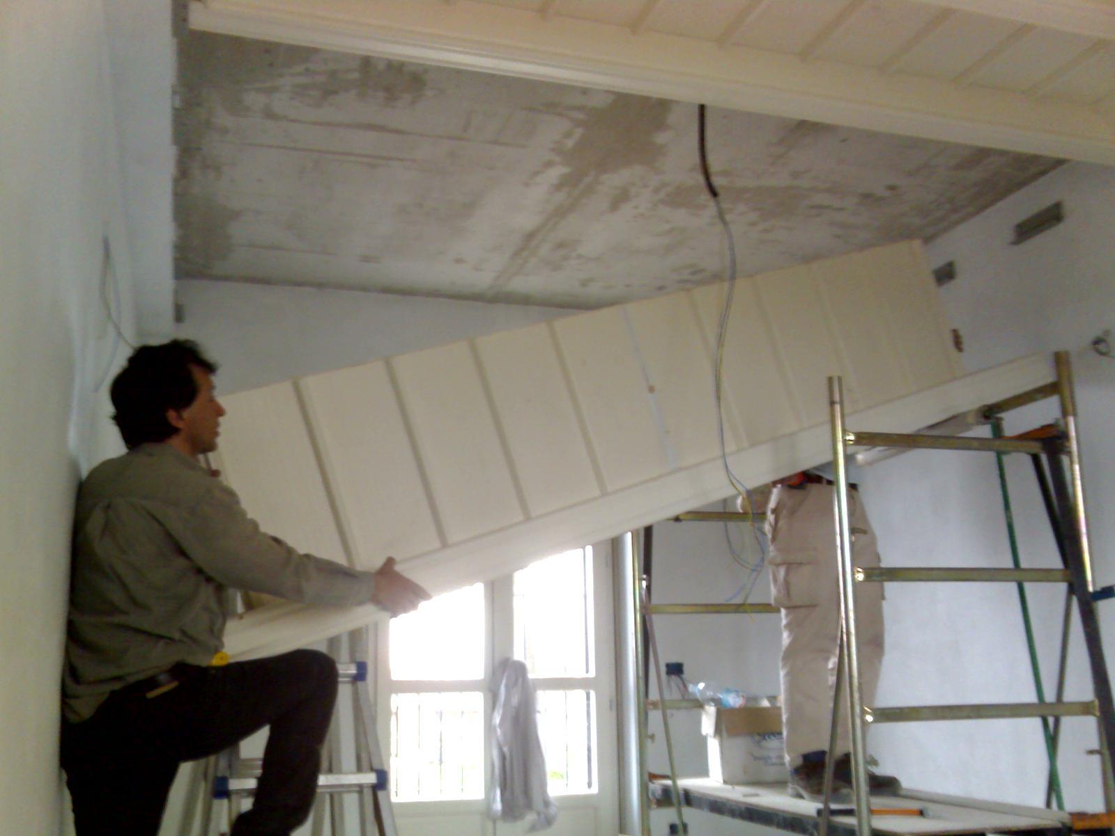 Soffitti a cassettoni in legno: applicazione dal basso contro soletta ...